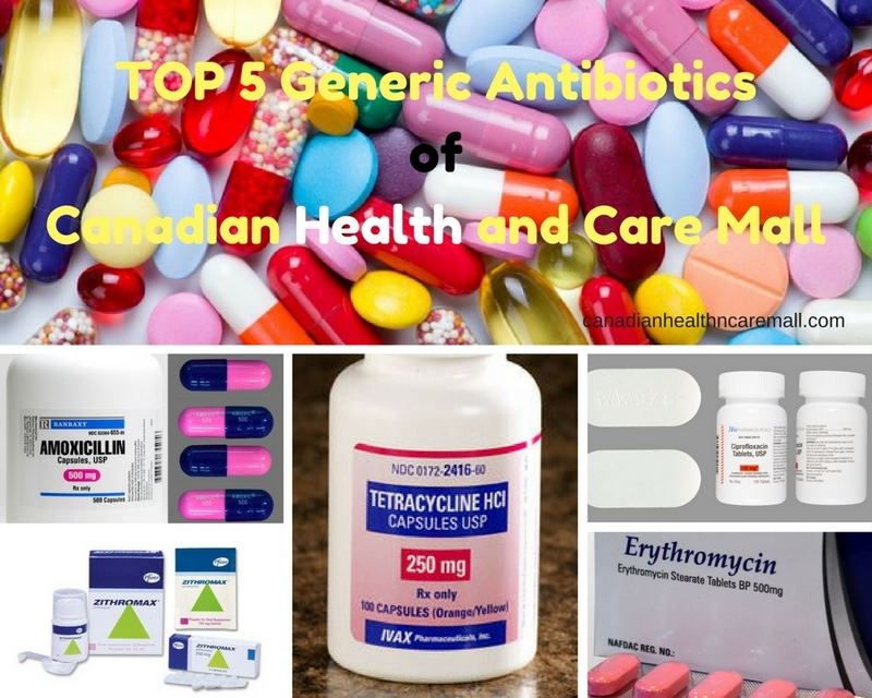 TOP 5 Generic Antibiotics of Canadian Health and Care Mall